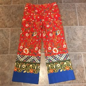 Tory Burch Samba Batik Flower Dayton Cropped Pants
